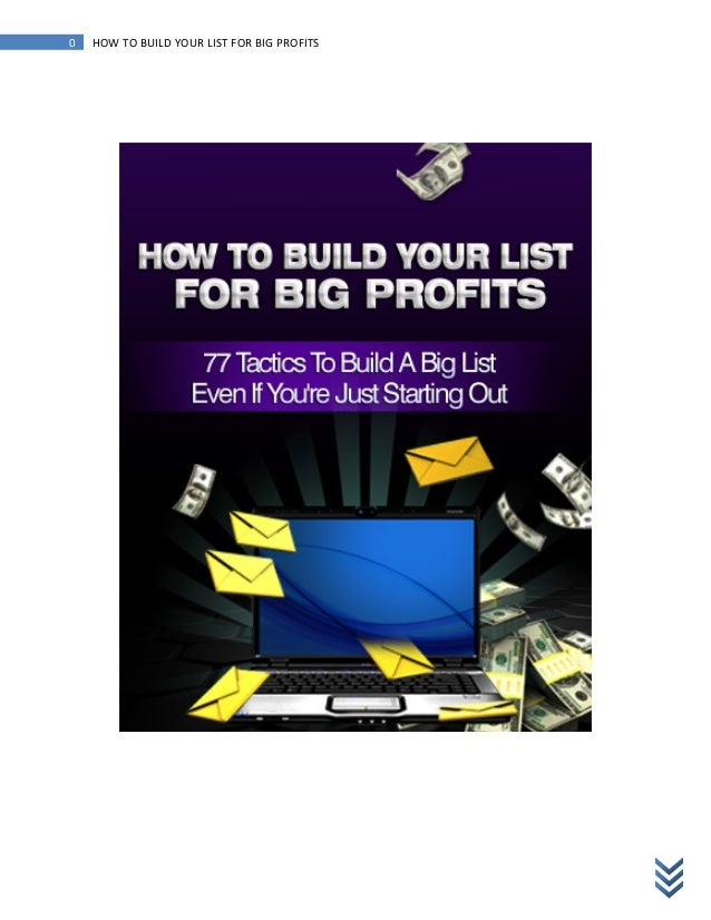 Make Money Online - Build Your List for BIG Profits