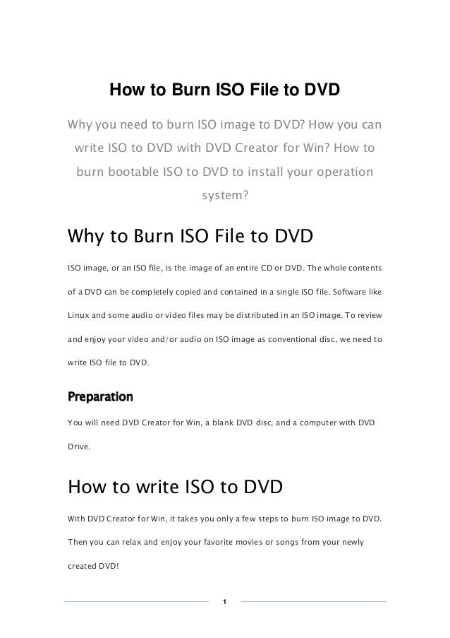 Copy Right www.imelfin.com How to Burn ISO File to DVD Why you need to burn ISO image to DVD? How you can write ISO to DVD...