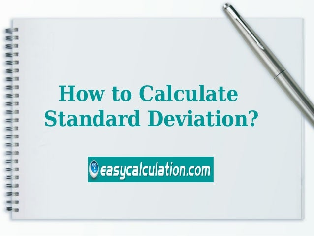 how to write standard deviation