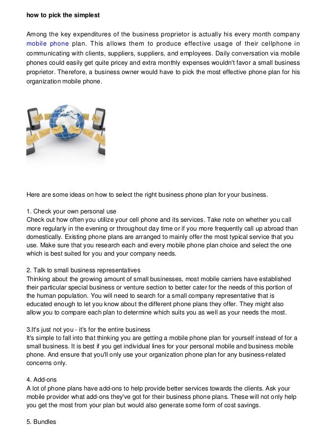 The Way To Select The Most Effective Business Phone Plan For Your Small Business