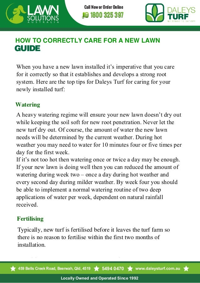 How To Correctly Care For A New Lawn