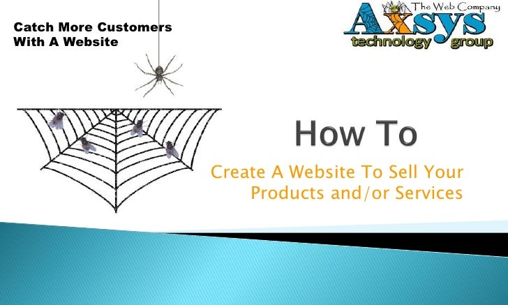 How to create a Website to sell your products and/or services