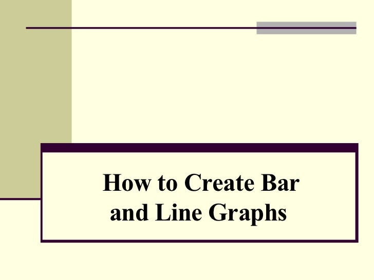 How to create bar and line graphs - How to design a bar ...