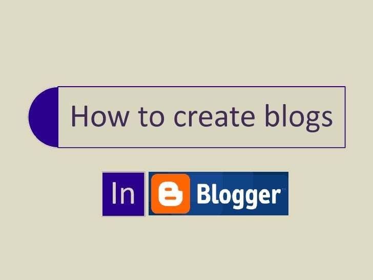 How To Create Blogs