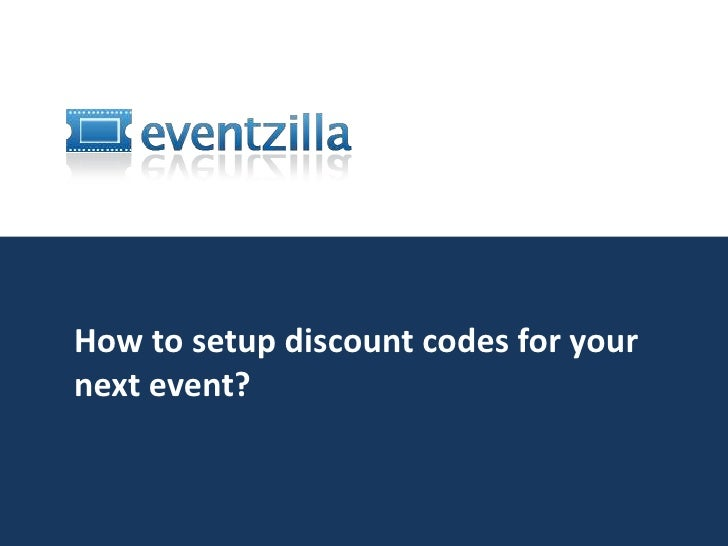 How to setup discount codes for your next event?<br />