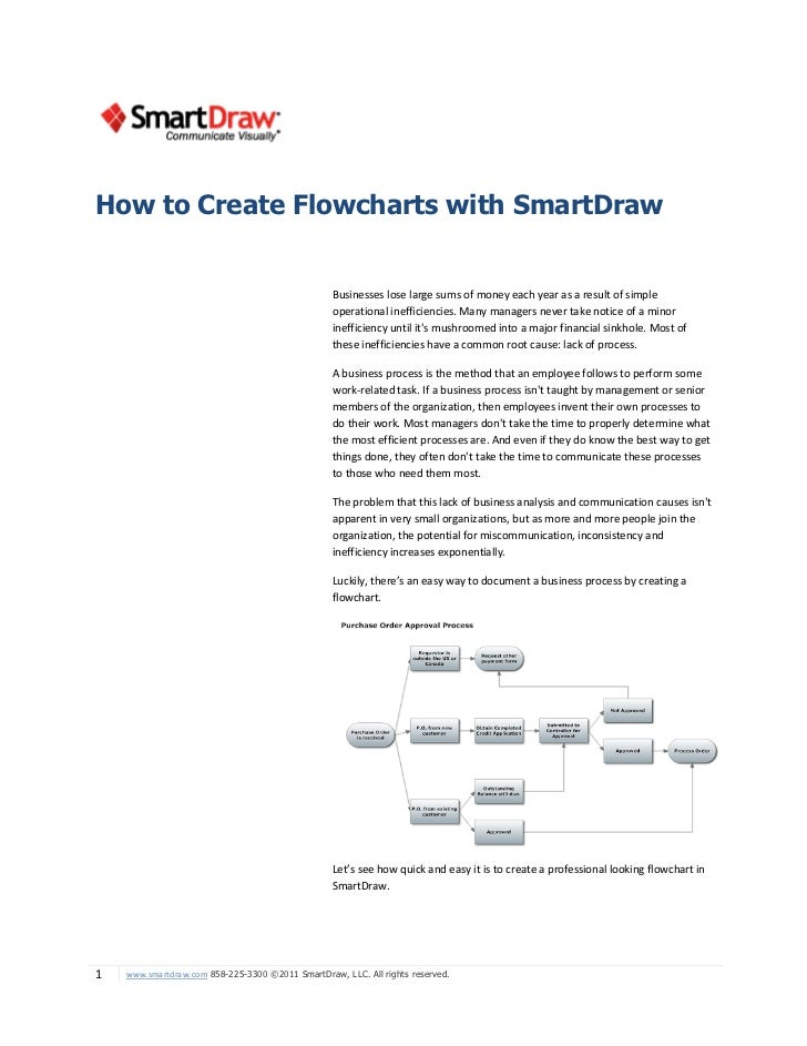 How to Create Flowcharts with SmartDraw                                                  Businesses lose large sums of mon...