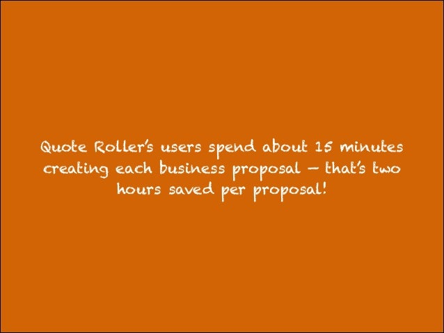 Creating a business proposal