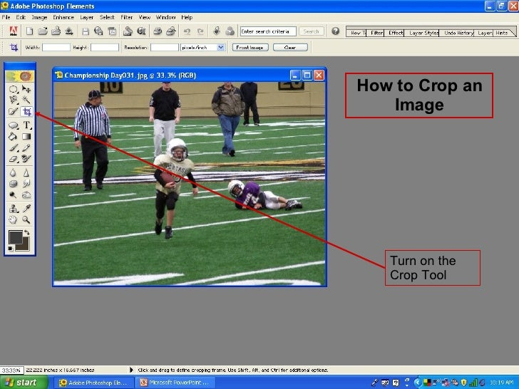 Turn on the Crop Tool How to Crop an Image