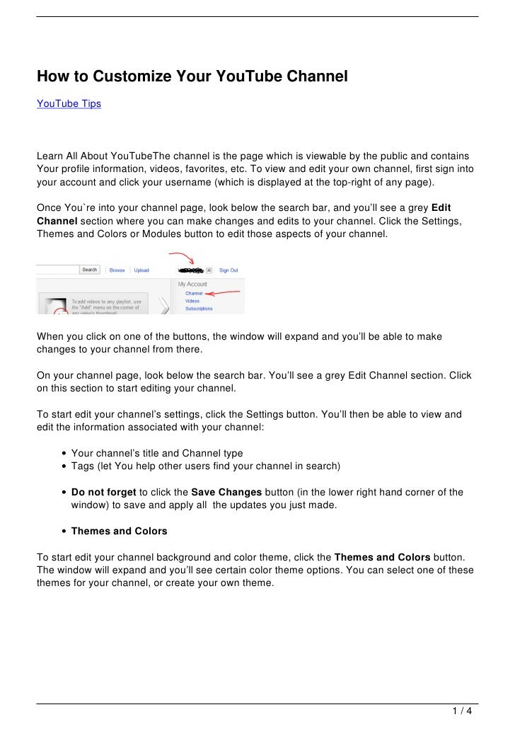 How to Customize Your YouTube ChannelYouTube TipsLearn All About YouTubeThe channel is the page which is viewable by the p...