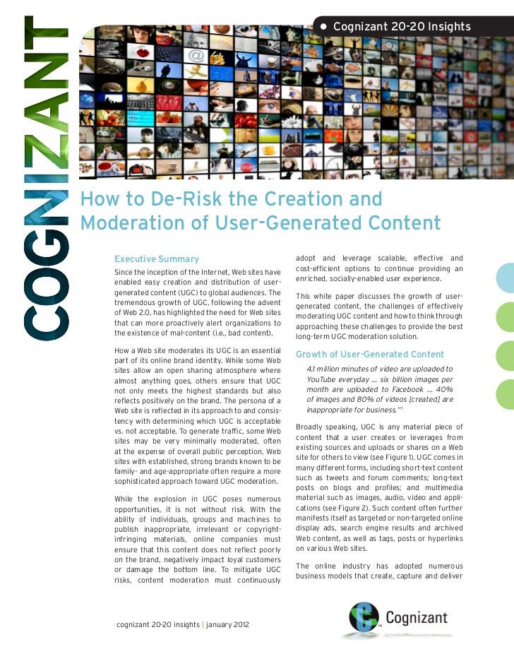 How to De-Risk the Creation and Moderation of User-Generated Content