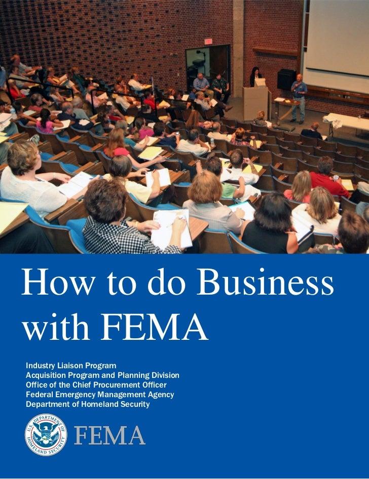 How to Do Business with FEMA