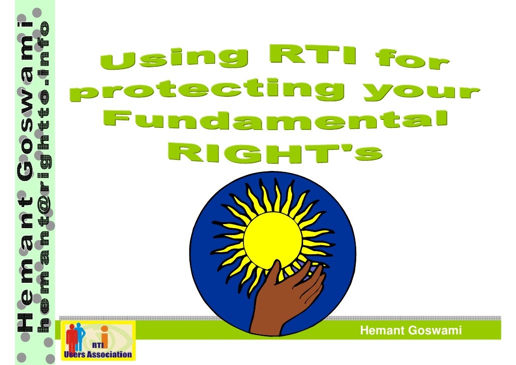 How to File RTI Application - Hemant Goswami