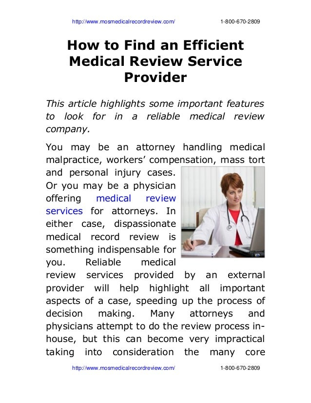 How to-find-an-efficient-medical-review-service- provider
