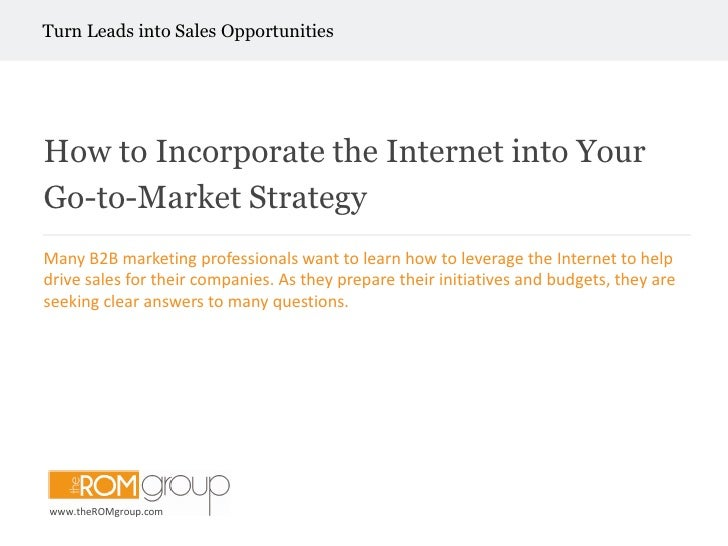 How to-incorporate-Internet in Your Go-to Market Strategy