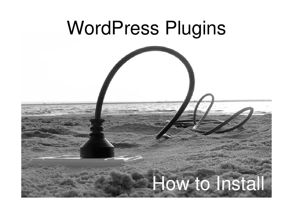 How to install a Word Press plugins