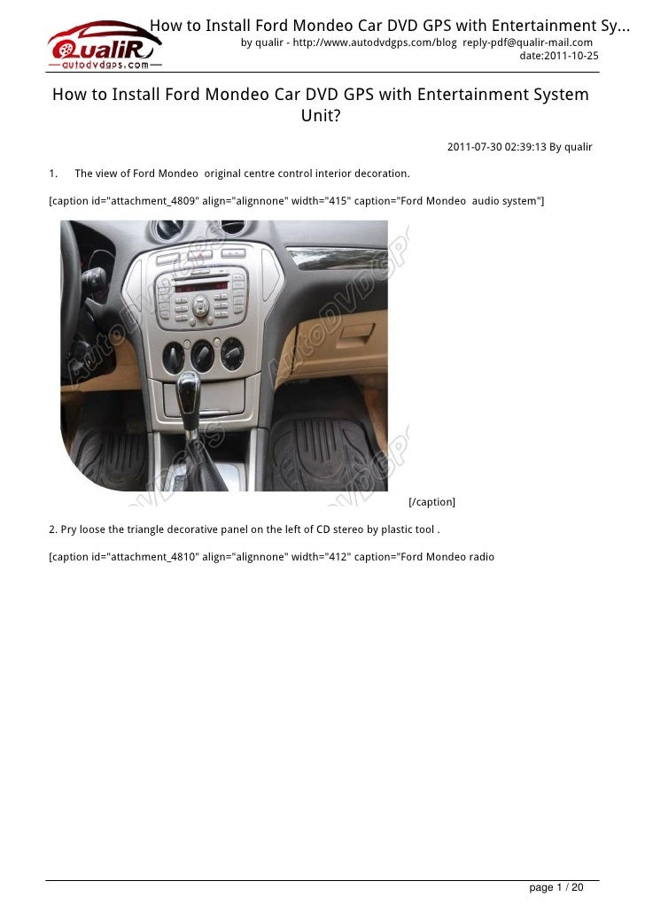 How to-install-ford-mondeo-s-max-car-dvd-gps-unit