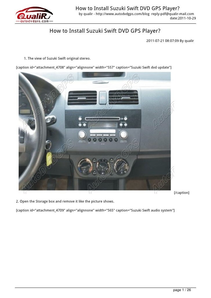 How to Install Suzuki Swift DVD GPS Player?                                        by qualir - http://www.autodvdgps.com/b...