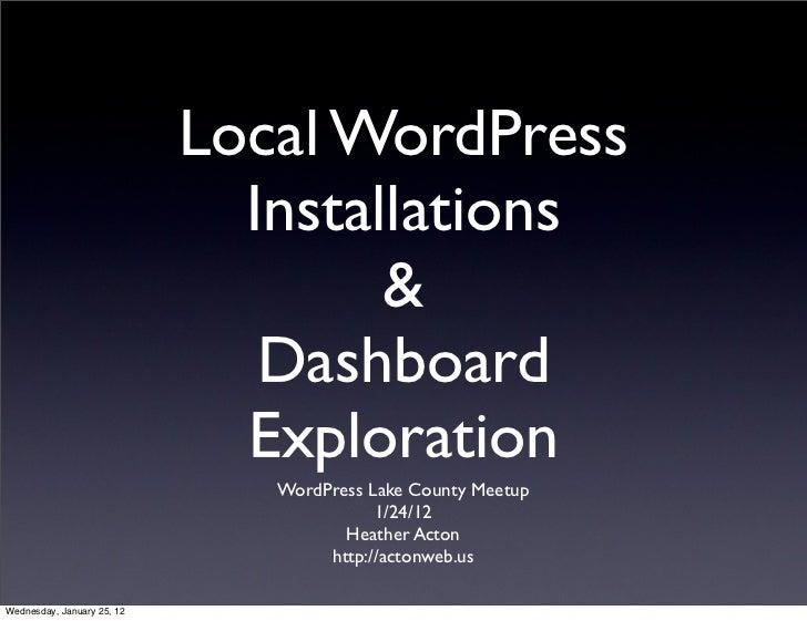 Local WordPress                              Installations                                    &                           ...