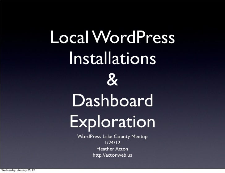 How To Do a Local Install of WordPress