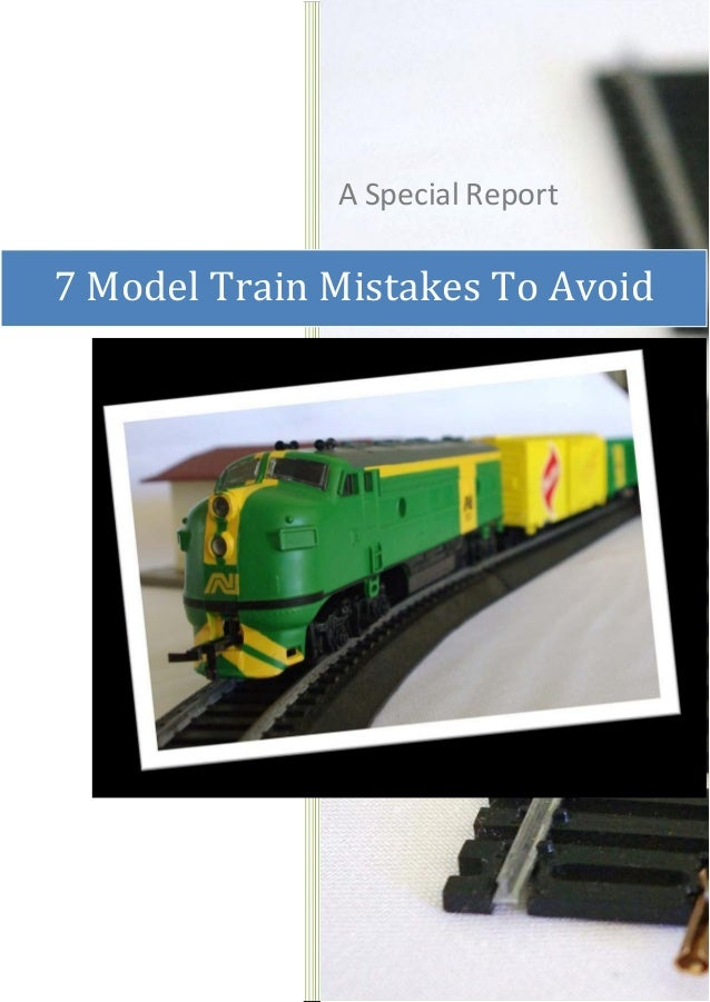 Ways To Avoid Errors Involving Train Layouts And Model Manual Guide