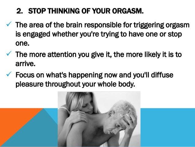 Making mens orgasm last longer