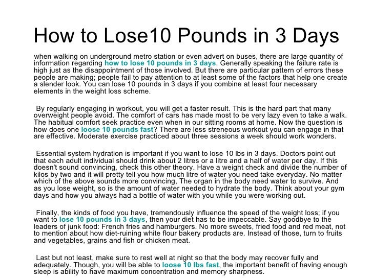 Easy diet for weight loss