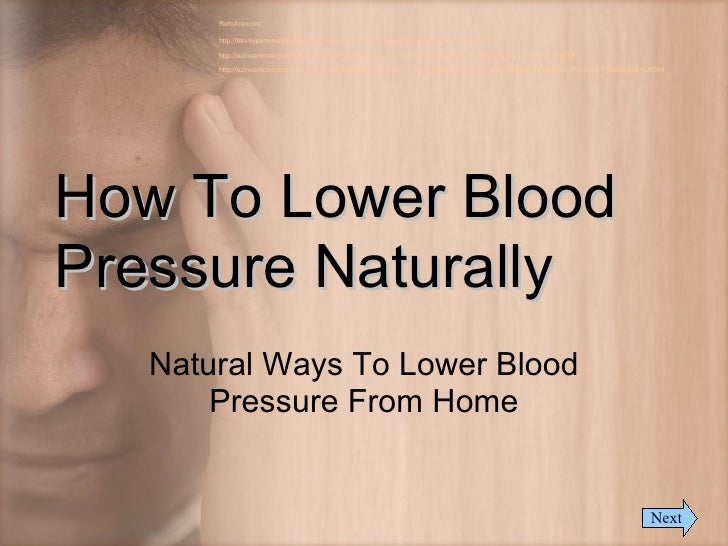 ways lower blood pressure