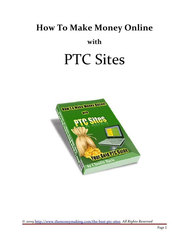 How to make money online with ptc sites pdf