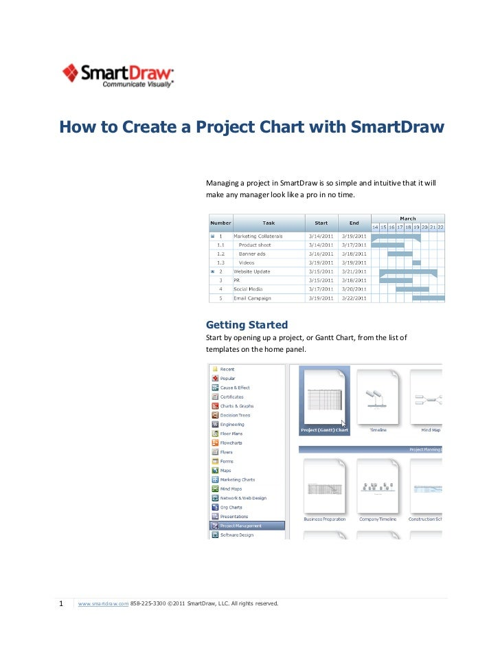 How to Create a Project Chart with SmartDraw                                                  Managing a project in SmartD...
