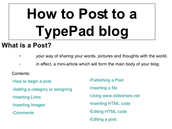 What is a Post? - your way of sharing your words, pictures and thoughts with the world. - in effect, a mini-article which ...