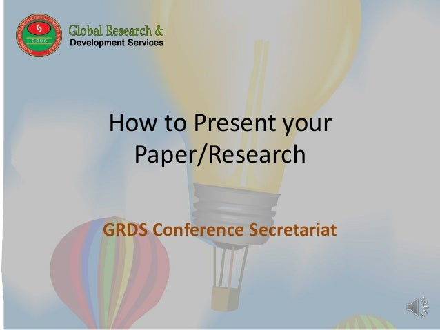 present paper research I organization and approach for most research paper formats in the social and behavioral sciences, there are two possible ways of presenting and organizing the results.