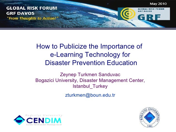 How to Publicize e-Learning Technology for Disaster Prevention Education