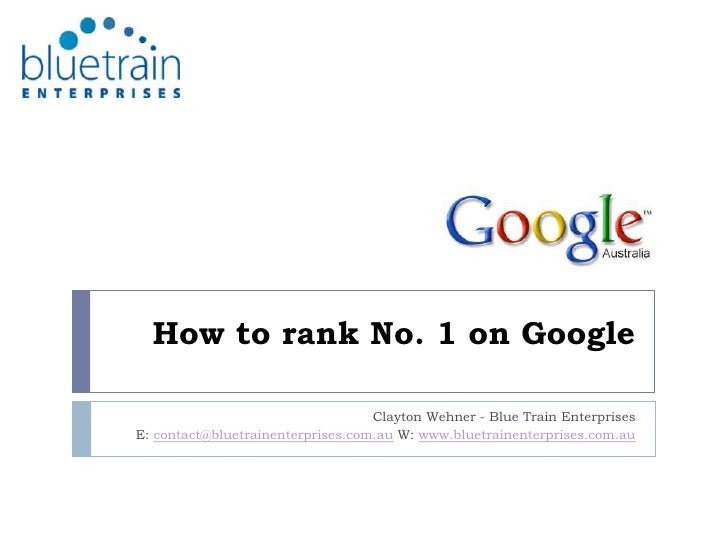 How To Rank No 1 On Google