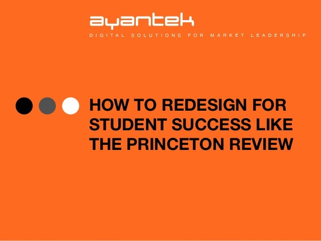 How to Redesign for Student Success Like the Princeton Review