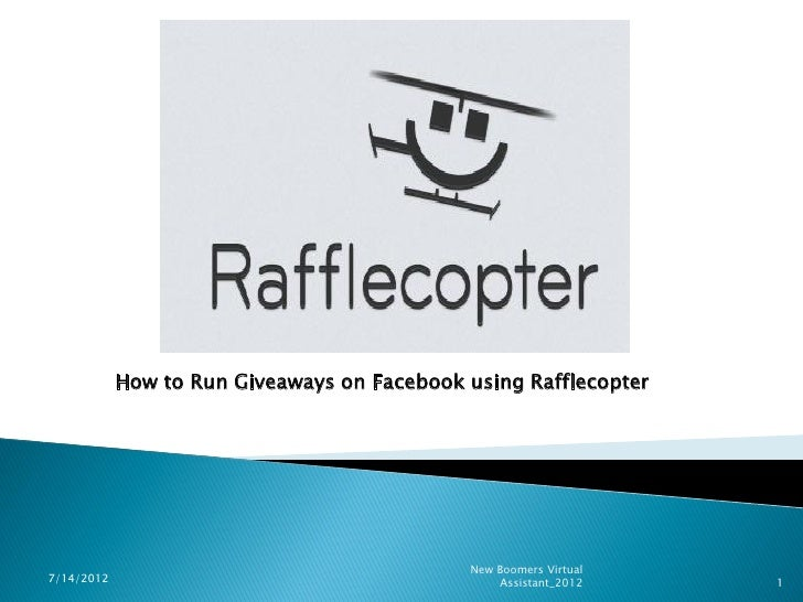 How to Run Giveaways on Facebook using Rafflecopter                                             New Boomers Virtual7/14/20...