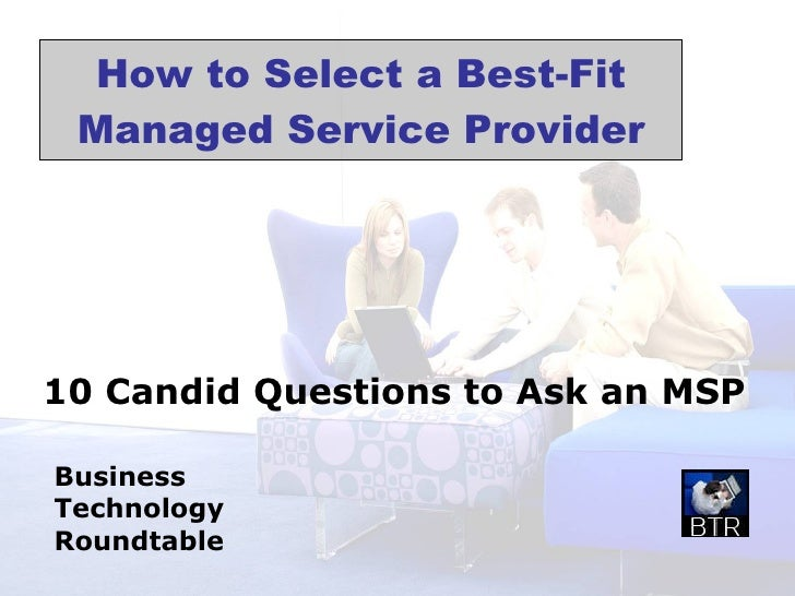 How to Select a Best-Fit Managed Service Provider