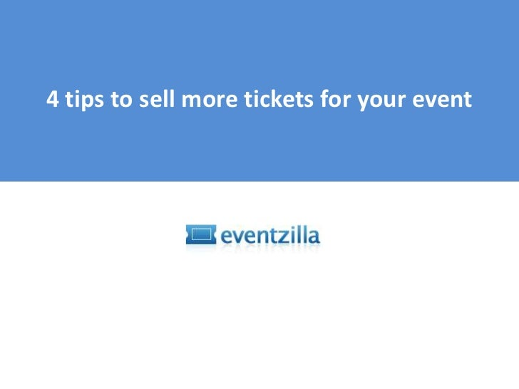 How to sell more tickets for your event?<br />