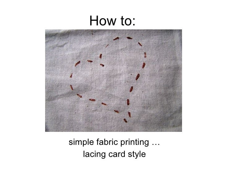 How To Simple Stamp For Fabric Printing