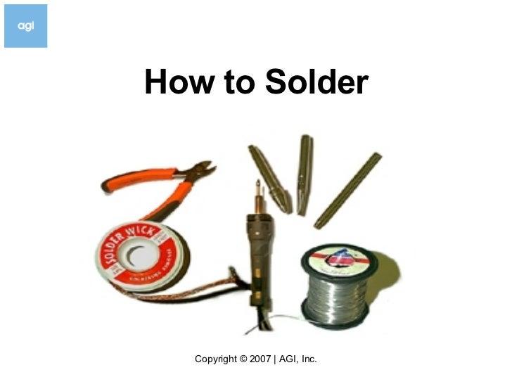 How To Solder V3.5