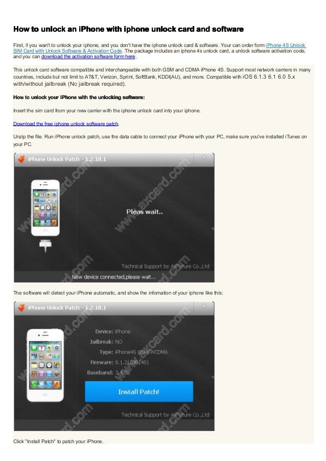 iphone unlock software