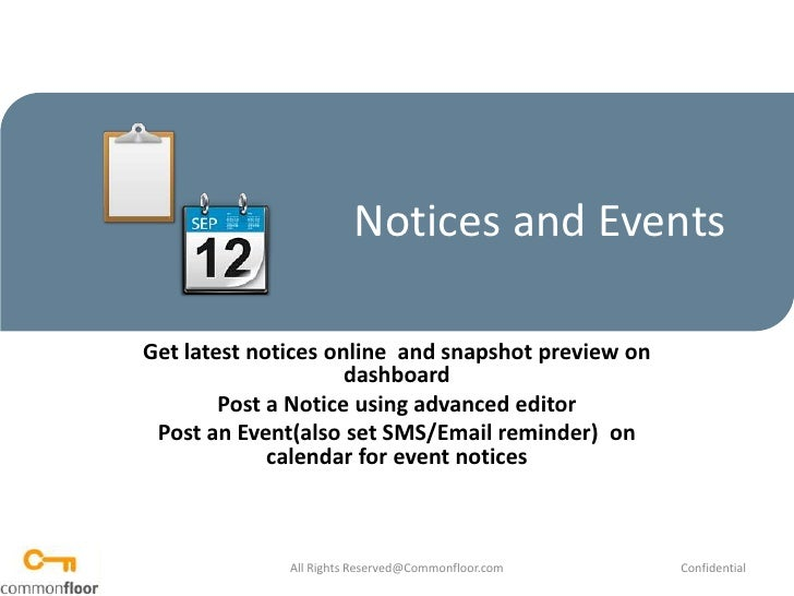 How to use notice board
