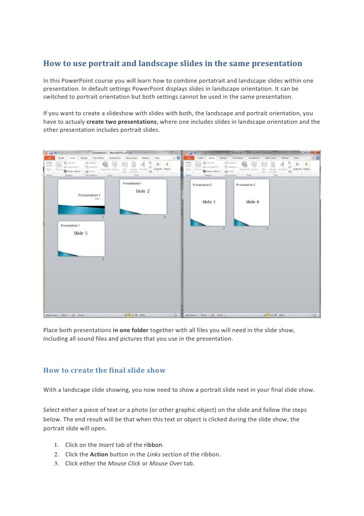 how to make powerpoint slides portrait