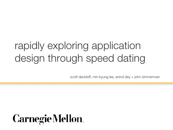How to setup speed dating