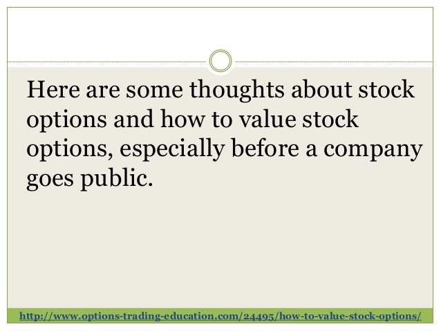 Value stock options