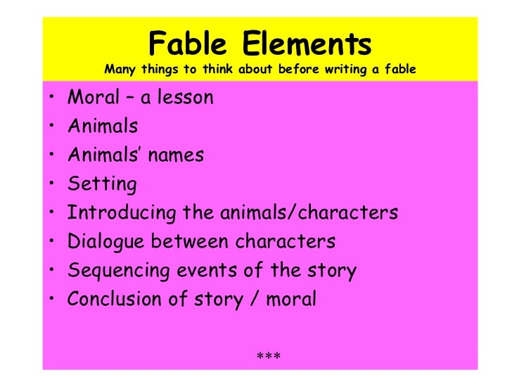 How to write a myth fable