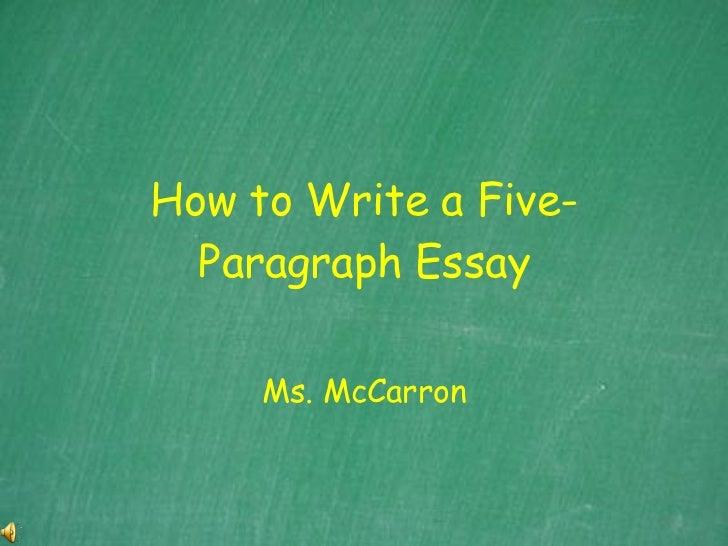 How To Write A Five Paragraph Essaypkg