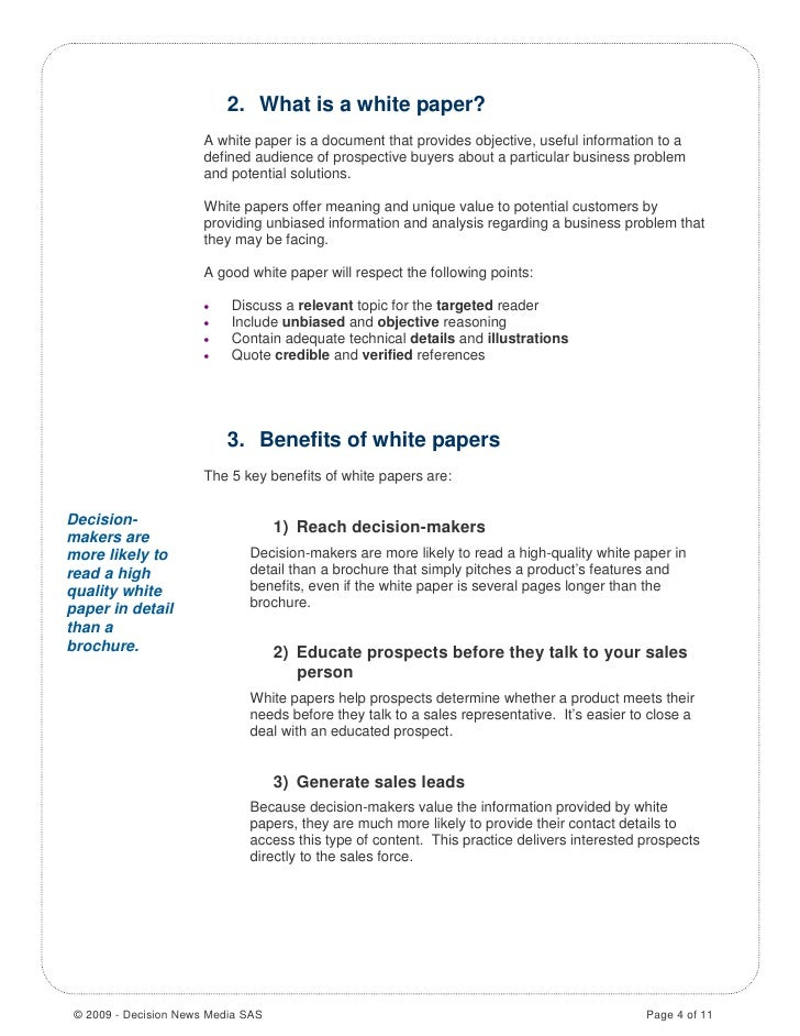 how to write a white paper document