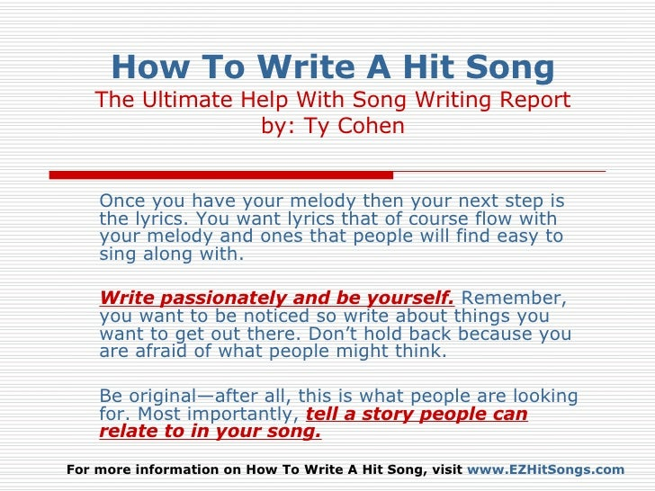How to Write Lyrics in an Essay
