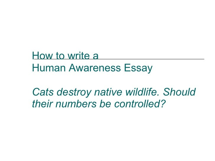 human awareness essays Human awareness essay - hde.