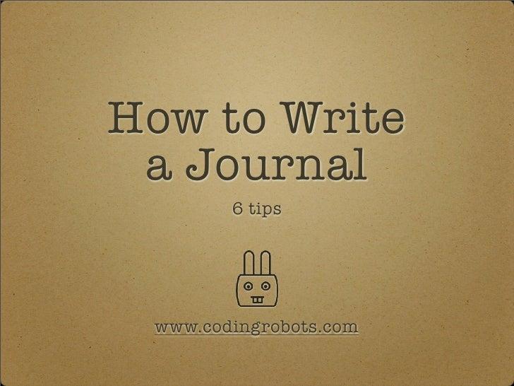 How To Write A Journal tXhTbf9Q